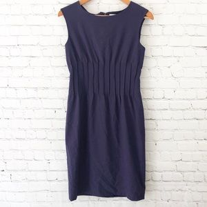 Calvin Klein dress sleeveless sheath pintucked